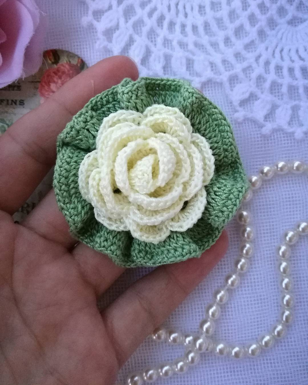 Crochet Lace Flower Pattern Free - Flowers Healthy