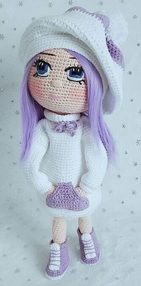 Crochet pattern, Amigurumi doll with beret and dress - Kindle ... | 927x457